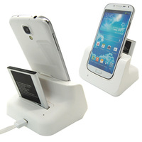 New Sync Cradle Desktop Dual Battery Charger Dock For Samsung Galaxy S4 i9500