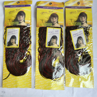 Free  Shipping Synthetic Hair Weave Machine Hair Weft Africa Girl braiding hair 5PCS factury on sale