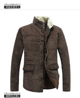 2013 Men's Winter Jacket Fashion Cotton-padded Corduroy Vintage Outerwear Coat Design Wadded Jacket Big Plus Size XXXL Coat