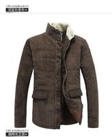 2013 Men's Winter Jacket Fashion Cotton-padded Corduroy Vintage Outerwear Coat Design Wadded Jacket Big Plus Size XXXL Coat
