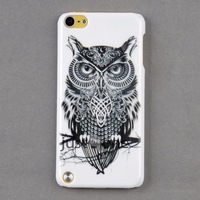 Smart Owl pattern  Back Skin Case Cover Protector for Apple iPod Touch 5