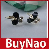[BuyNao] Fashion Sweet Butterfly Resin Crystal Rhinestone Ear Studs Earrings Jewelry 24 hours dispatch