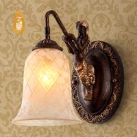 Fashion vintage american rustic wall lamp ofhead balcony lighting