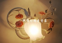 Fashion rustic bedroom lights bed-lighting brief fashion wall lamp bathroom lamp rose wall lamp