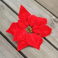 Christmas flower poinsettia christmas tree decoration flower christmas cane garishness decoration flower 22cm