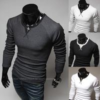 New Fashion Brand Sports Mens T Shirt Long Sleeve T Shirt For Men O-neck Slim Shirt Male Tops Tees  Casual T-shirts,R1365