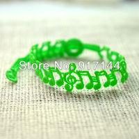 New Fashion 10 Colors Music Note Shape Italy Lace Bracelet Bangle Jewelry 50PCS/LOT Free Shipping