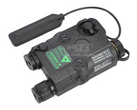 Tactical Flashlight Green Laser and White Torch (BK) PEQ/15 free shipping
