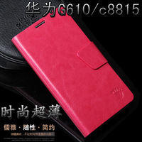 Leather Case For Huawei C8815 Ascend G610 Leather Cover Bag Pouch Free Shipping