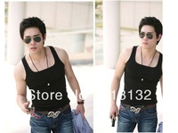 Free Shipping 3 Colors Cool Mens Sexy Slim Shirt Vest Undershirt Tank Sport Tops 4 Sizes A1387