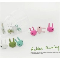 Hearts . accessories multicolour paint rabbit stud earring Women