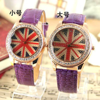 Holiday sale Gogoey UK flag fashion crystal watch Women ladies wholesale wrist quartz watch new arrival
