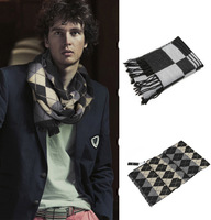 2013 High Quality Men Cheap Cashmere scarves grid print fashion style scarves for men