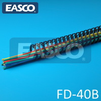 Black Flexible Wire Channel Slotted FD-40B by EASCO