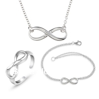 Quality 925 sterling silver jewelry set for women #CJ0378 2013 Fashion wedding jewelry Infinity Jewelry Sets