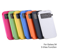 For Samsung Galaxy S4 S View Flip Cover Leather Case, Dormancy Mode, Touch Screen S View Window, Automatic Power On/Off Display