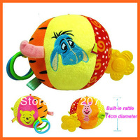 Christmas Gift Toy for Kids Multi-functional Baby Cloth Ball Lovely Baby Rattle Bell Toys Early Educational Kids Toys