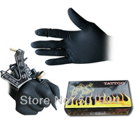 High Quality Tattoo & Body Art Black Disposable Tattoo Latex Gloves Available Size Accessories Free Shipping Tattoo & Body Art