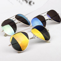 Women's Spectacles Eyeglasses Mercury Reflective Metal Frame Sunglasses 4 Colors Free shipping & Drop shipping