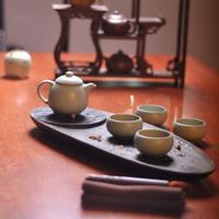 Black stone tea tray kung fu tea set tz016