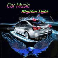 50x25cm Car Sticker Colourful EL Sound Activated Equalizer Music Rhythm LED Flash Light Lamp Decoration LED EL Sheet Light 2294