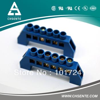 ST005  6*9-8poles  screw brass terminal block