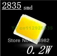 Free shipping 2835 chip leds 0.2W white smd led 20-22LM PAR lamp led bead(CE&Rosh)
