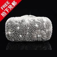 Free shipping  high quality big fashion elegant rich luxury sparkling diamond bag