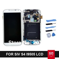 100% New For Samsung Galaxy SIV LTE S4 i9505 LCD display Touch Screen Digitizer with frame Assembly White By DHL