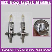 2 Pcs/Lot_Halogen Xenon H1 12V 55W Golden Yellow Fog Light Bulbs 3000K