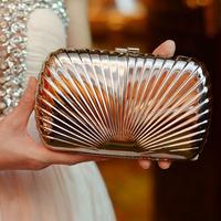 2013 fashion shell bag fan-shaped shimmering shaping evening dress dinner women's handbag