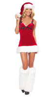 Free shipping ML8037 Hot Selling Hat Leg Warmer Included Red Christmas New Year Costume