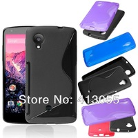 For LG Nexus 5 TPU Gel Case,New S Line Soft TPU Gel Back Case For LG Google Nexus 5 E980,Free shipping 20pcs/lot