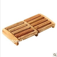 5 Rows Wooden Foot Roller Wood Care Massage Reflexology Relax Relief Massager  FreeShipping