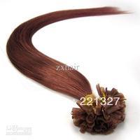 "Wholesale - 100S 18""-26"" Remy Human hair Nail tip/Keratin Hair Extensions #33 - dark auburn"