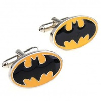 Batman fashion Cuff link 2 Pairs Free Shipping Crazy Promotion for gift