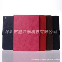 horse striped card grain stitching holster PU case for ipad 5 ipad air 5pcs/lots free shipping