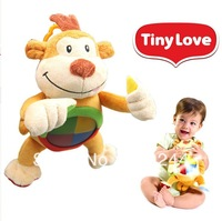 New baby toys, tinylo sound and light music monkey plush toy baby toys baby monkey appease music