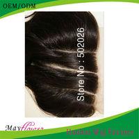 Brazilian body wave virgin human hair 3 part lace closure bleached knots natural black color