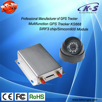 vehicle gps tracker supporting camera