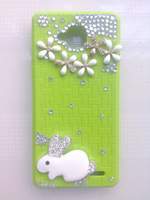 Free shipping Original Jiayu G3 g3s flower and rabbit silicon case