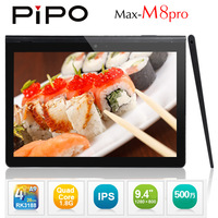 PIPO M8PRO M8 Pro Tablet PC RK3188 1.6GHZ Quad Core 9.4 Inch IPS Screen Android 4.1 2G Ram 16GB Camera