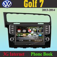 CAR DVD PLAYER autoradio GPS navigation  for Volkswagen Golf 7  2013 2014  / 3g internet / Russian language / Free map