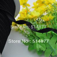 "20Y Black Color 3/8""Velet Ribbon Craft/Wedding/sewing  Free Shipping VR03"