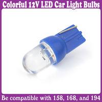 2 pcs/Lot_T10 Bulbs Colorful LED Wedge Car Light Bulbs Lamp