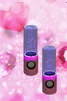 free shipping 4 pcs/lot newest led usb water dancing speaker water fountain speaker soundbox boombox for phone/pc/pad/mp4 co