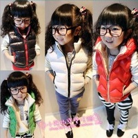 5pcs/lot baby girls cotton padded vests autumn winter children outerwear