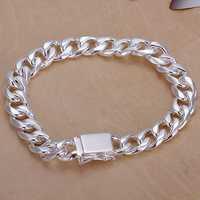 Small accessories 925 silver bracelet fashion bracelet 10mm square buckle sidled bracelet