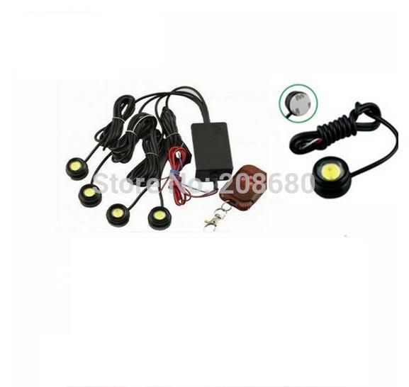 4*1.5W IP68 strobe flash eagle eye light led car reversing light backup light tail stop daytime running light Free shipping AAA(China (Mainland))
