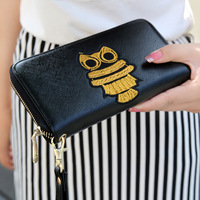 Brand PU Leather Animal Prints Long Design Zipper Women's Coin Purse Licensing Wallet , High Quality Carteira For Woman , Retail